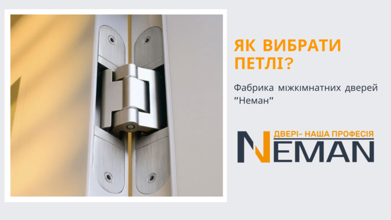 Як вибрати дверні петлі?